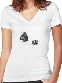Vader's New Toy Women's Fitted V-Neck T-Shirt
