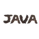 Java word made out of coffee beans by stuwdamdorp