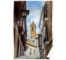 Streets of Seville - Looking at the sky  Poster
