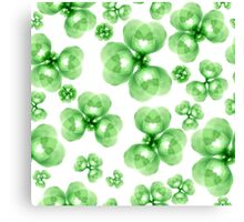 Abstract flowers pattern Canvas Print