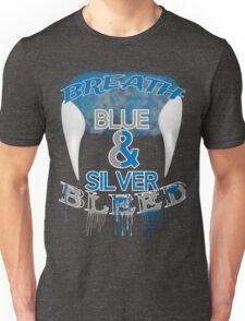 Breath and Bleed Blue and Silver Unisex T-Shirt