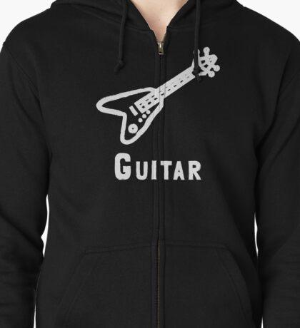 Guitar Zipped Hoodie