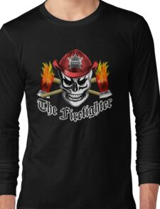 Firefighter Skull 4.1 Long Sleeve T-Shirt