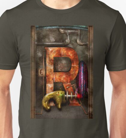 Steampunk - Alphabet - R is for Ray Gun Unisex T-Shirt