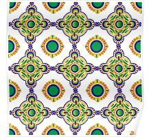 Blue and green pattern Poster