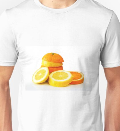 Oranje Lemon Unisex T-Shirt