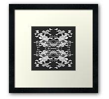 Iris Print, Grey and White Framed Print