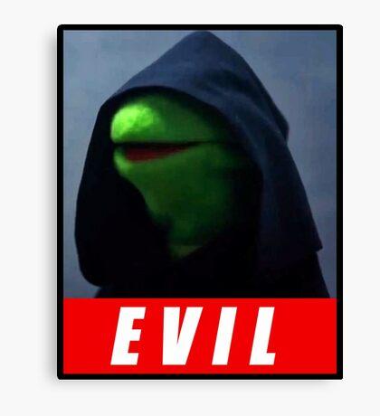 evil kermit Canvas Print