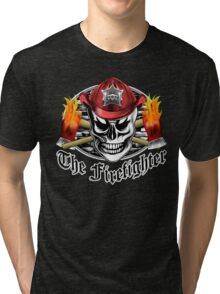 Firefighter Skull 4.3 Tri-blend T-Shirt