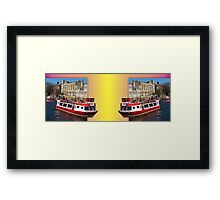 York. The River Cruise double take. Framed Print