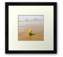 Aquaman Goes Home Framed Print
