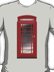 London Red Phone Booth Box  T-Shirt