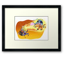Battle of the Space Experiments Framed Print