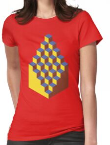 Isometric Isolation Womens Fitted T-Shirt
