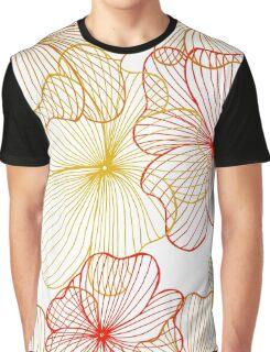orange flowers Graphic T-Shirt