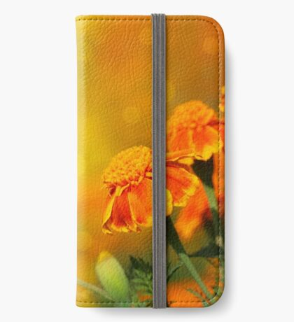 tagetes flowers iPhone Wallet/Case/Skin