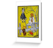 """""""Dorothy gazed thoughtfully at the Scarecrow."""" Greeting Card"""