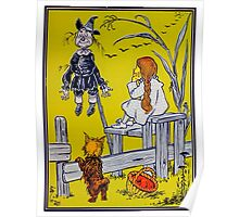"""""""Dorothy gazed thoughtfully at the Scarecrow."""" Poster"""