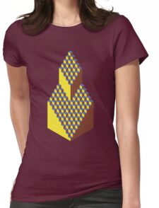 Isometric Elavation Womens Fitted T-Shirt