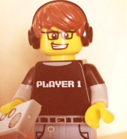 Lego Video Gamer Sticker