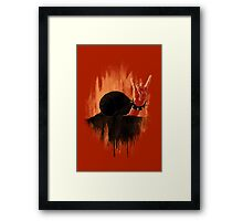 Rock Hard Snail Framed Print