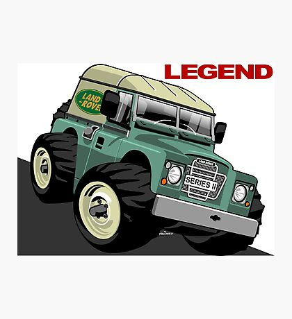Land Rover Series ii caricature Photographic Print