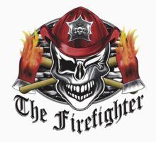 Firefighter skull 6.3 Kids Tee