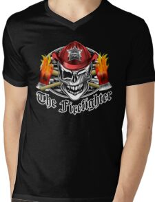 Firefighter skull 6.3 Mens V-Neck T-Shirt