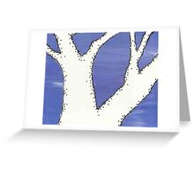 Negative Trees 4 Greeting Card