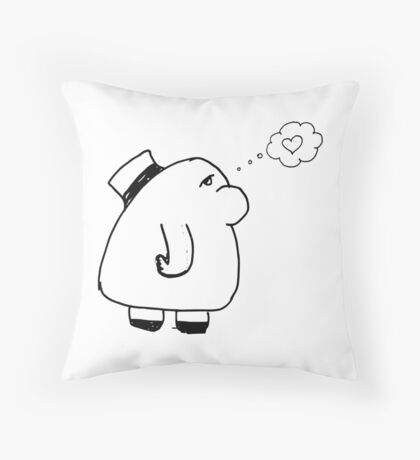 I'm Falling in Love Doodles Throw Pillow