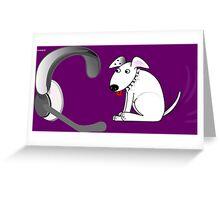 Telephone Hound Greeting Card