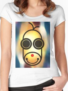 MOODI 1 monkey, by m a longbottom - PLATFORM58 Women's Fitted Scoop T-Shirt
