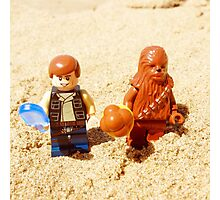Han & Chewy At The Beach Photographic Print