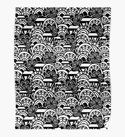Pattern abstract elements Poster