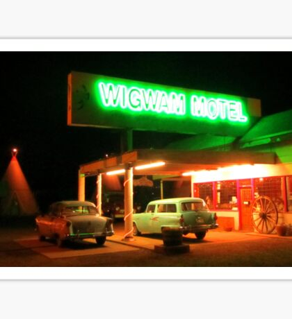 Famous Route 66 Motel Sticker