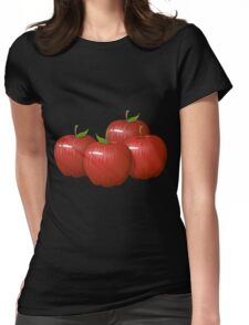 Glitch Food apple Womens Fitted T-Shirt