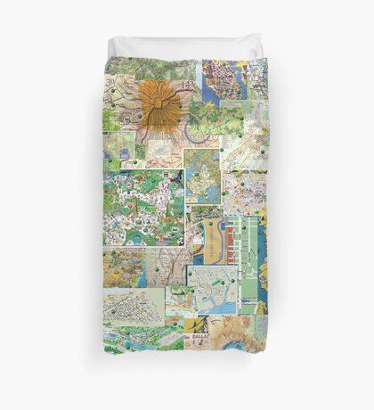 69 Maps Duvet Cover