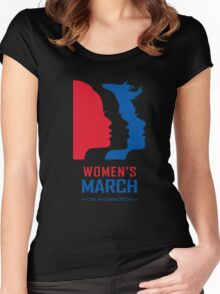 Women March On Washington Women's Fitted Scoop T-Shirt
