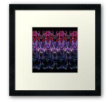 Iris Print, Red and Purple on Black Framed Print