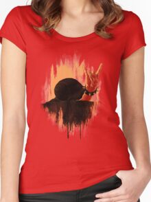 Rock Hard Snail Women's Fitted Scoop T-Shirt