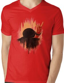 Rock Hard Snail Mens V-Neck T-Shirt