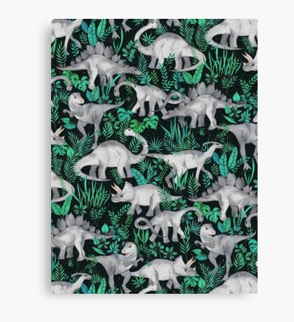 Dinosaur Jungle Canvas Print