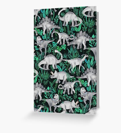 Dinosaur Jungle Greeting Card