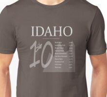 Idaho - Top 10 Peaks Unisex T-Shirt
