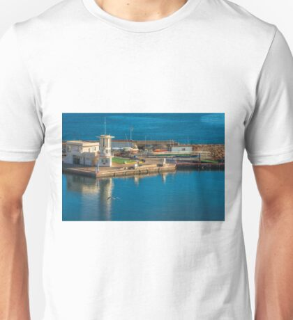 Harbour buildings in the evening Unisex T-Shirt