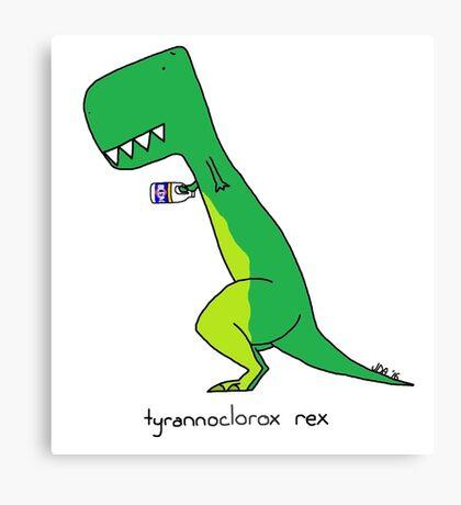 tyrannoclorox rex Canvas Print