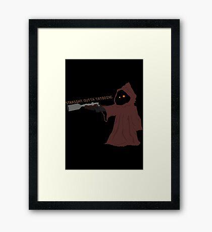 Star Wars Jawa Straight Outta Tatooine Minimal Framed Print