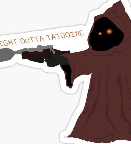 Star Wars Jawa Straight Outta Tatooine Minimal Sticker
