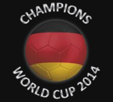 Germany - World Cup Champions 2014 - German Flag Football Soccer Ball by graphix