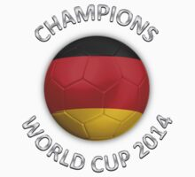 Germany - World Cup Champions 2014 - German Flag Football Soccer Ball Kids Clothes